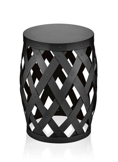 The Mia Tabure Siyah 50 x 35 Cm Siyah